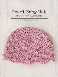 Free Crochet Patterns For Baby Hats Unique Cute free crochet patterns for baby hats vintage pearl baby hat