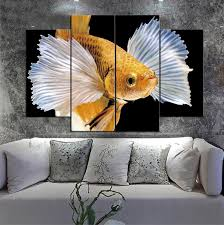 2019 beautiful yellow goldfish in white dress frameless paintings no frameprintd on canvas wall art hd print painting picture from harlyx 13 27 dhgate
