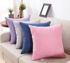 simple fashion cotton linen nap cushion