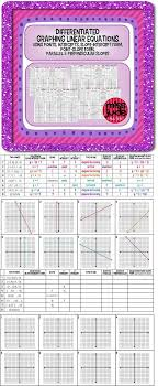 graphing linear equations diffeiated practice