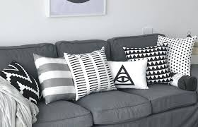 black couch cushions striped black and white decorative pillows for grey couch striped black and white