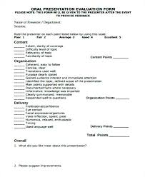 Powerpoint Presentation Evaluation Form Oral Presentation Template Assessment At Jcbank Co