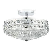 traditional semi flush polished chrome and crystal ceiling light ivana 5 square mount chandelier full size