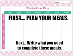 Free Meal Planning Chart Printable One Crazy Mom