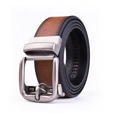 fabio valenti 40mm mens casual leather belt with zinc alloy automatic ratchet buckle cognac com