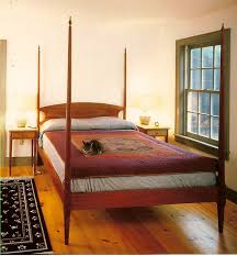 cherry pencil post bed with finials