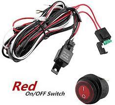 universal yosoo 12v red led light bar rocker switch wiring harness universal yosoo 12v red led light bar rocker switch wiring harness 40a relay fuse