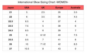 Unexpected Boys To Women Shoe Conversion American Shoe Sizes