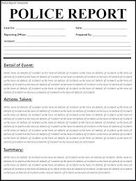 Police Report Template Doc