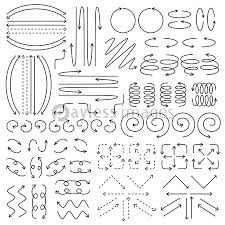 矢印 手書き風 セットの写真イラスト素材 Xf4115271435 ペイレス