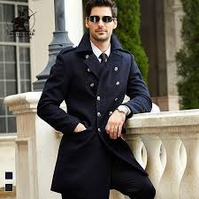 2018 whole brand new mens navy wool pea coat winter fashion high quality plus size business casual wool coat for men pull homme d42f1809 from bailanh