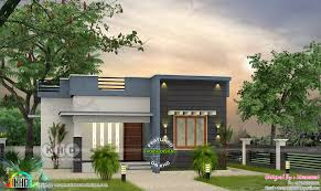 Low Cost Low Budget House Design Low Budget Flat Roof 2 Bedroom House 700 Sq Ft Kerala Home