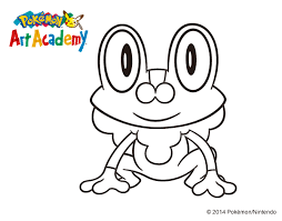 Small Picture Pokemon Coloring Pages Froakie Coloring Pages