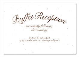 Green Wedding Insert Cards On Plantable Paper Buffet Reception By