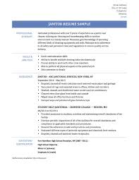 Resume Examples For Janitorial Position Sample Resume Janitorial Position RESUME 17