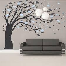 Small Picture Blowing Tree Wall Art Design Trendy Wall Designs