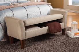 beige fabric storage bench  stealasofa furniture outlet los