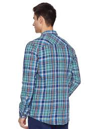 Pepe Jeans Casual Shirt Size Chart Pepe Jeans Mens Checkered Regular Fit Casual Shirt