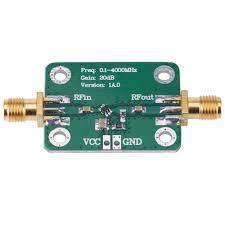0.1 4000MHz Broadband RF Wideband Amplifier 20dB Low Noise LNA Microwave RF  Amplifier Module Gain DC Board Modules Frequency Meters