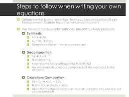 steps to follow when writing your own equations