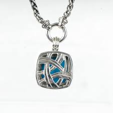 david yurman sterling silver turquoise diamond 20mm albion