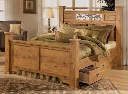 rustic bedroom furniture sets. Rustic Pine Bedroom Furniture Brown Plank Wood Frame Bed Tree As Deco Boho Chic Sets