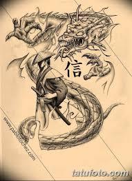 черно белый эскиз тату самурай 09032019 012 Tattoo Sketch