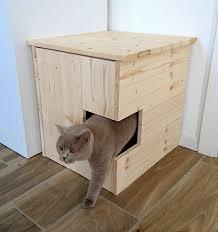 corner cat litter box furniture. Corner Litter Box Cover, Pet House, Cat Cabinet, Furniture Made Of Spruce Wood C
