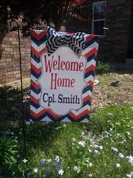 personalized military welcome home chevron garden flag on 17 50