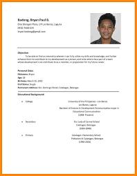 Fair Job Application Resume Format Sample In Sample Job