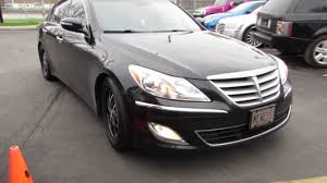 2012 HYUNDAI GENESIS WITH 18 INCH BLACK RIMS &TIRES - YouTube