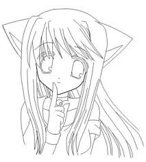 Anime Girl Coloring Pages Coloring Pages For You