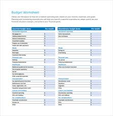 sample household budget sample budget worksheet monthly budget spreadsheet for a company