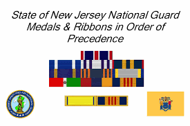 State Of New Jersey National Guard Medals Ribbons In Order