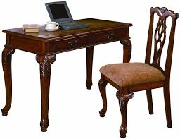 com 2pc home office writing desk side chair set kitchen dining