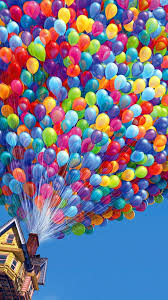 Up House Balloons Colorful Balloons House Up Movie Android Wallpaper Free Download