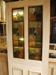 half glazed stained glass front door