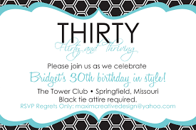 funny fancy design 30th birthday party invitation template