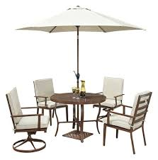 key west 7 piece round outdoor dining set umbrella and stand