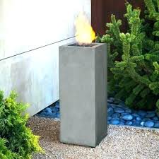 gas fire column pit awesome real flame inch propane red ember kona mini outdoor tall fir