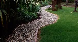 gravel walkway french drain walkway and path maureen gilmer morongo valley ca