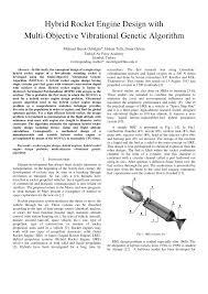 Solid Fuel Rocket Engine Design Pdf Hybrid Rocket Engine Design With Multi Objective