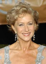 elegant curly pixie hairstyle for older women
