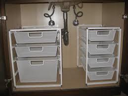 narrow under sink storage