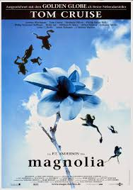 magnolia dir paul thomas anderson 1999 discreet charms magnolia german poster by mm kinowelt and new line cinema via carteles peliculas click the poster for a larger image
