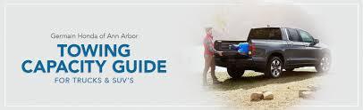 Honda Towing Capacity Guide for Trucks and SUVs - Germain Honda of ...