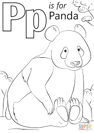 Small Picture Coloring Pages P Is For Panda Coloring Page Free Printable