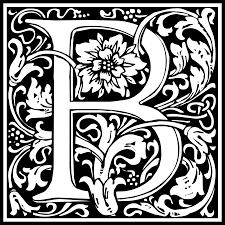 William Morris Letter B Png Png Image 2400 2400 Pixels