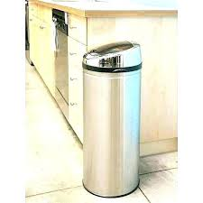 kitchen metal kitchen trash cans can s vintage and gallon stainless steel kitch