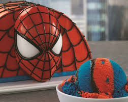 Baskin Robbins Red And Blue Spider Man Ice Cream With Popping Candies